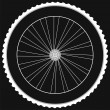 Bike wheel - isolated on black background — Stock Photo