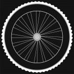Bike wheel - isolated on black background — Stock Photo #24431969