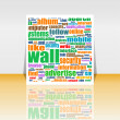 Word Cloud Social Network. Internet. Community. Flyer or Cover Design — Stock Photo #24644401