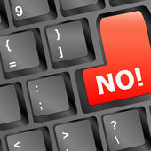 No - text on a button keyboard — Stock Photo