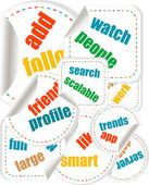 Word Cloud Social Network. Internet. Community. Flyer or Cover Design — Stock Photo