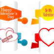 Valentine's day and wedding stickers and labels set — Stockfoto