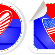 USA national and patriotic concepts for badge, sticker etc. — Stock Photo