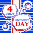 4th of July independence day background — Foto de Stock