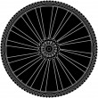 Stock Photo: Abstract bike wheel with tire and spokes