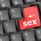 Sex button on laptop keyboard — Stock Photo