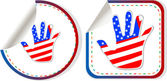 American hand sign stickers set — Stock Photo