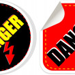 Stock Photo: High voltage danger sign, symbol