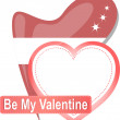 Heart shape with text Be my Valentine — Stockfoto