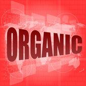 Marketing concept: words organic marketing on digital screen — Stock Photo