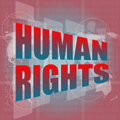 Socail concept: words human rights on digital touch screen — Foto Stock