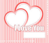 Valentines hearts two shapes on pink pattern background — Stock Photo