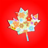 Canada Maple Leaf Background — Stock Photo