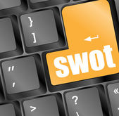 SWOT word on computer keyboard button — Stock Photo