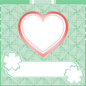 Graffiti love heart. Wedding green vector background — Stock Photo