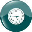 Clock icon button — Stock Photo