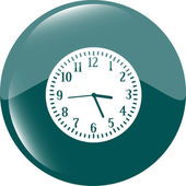 Clock icon button — Stock Photo
