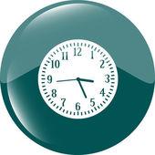 Saat simgesi düğmesini — Stok fotoğraf