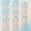 Vintage year 2013 calendar — Stock Photo
