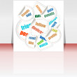 Stockfoto: Business word cloud on flyer or cover, 3d