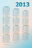 Vintage year 2013 calendar — Stock Photo