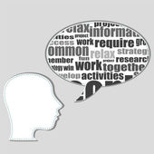 Brain training in business word collage — Stock Photo