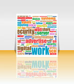 Marketing communication word on flyer or cover — Stock Photo