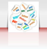 Business word cloud on flyer or cover, 3d — Stock Photo