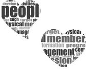 Бизнес слово коллаж. Иллюстрации с различными ассоциации термины — Стоковое фото