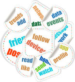 Concept speech cloud illustration of social individual politics — Stock Photo