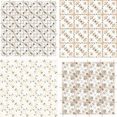 Set of four seamless pattern in retro style — Foto de Stock