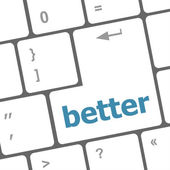 Better word on computer pc keyboard key — ストック写真