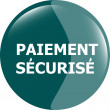 Paiement securise, secure icon button — Stock Photo