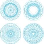 Abstract blue with circle pattern, mandala set — Stock Photo #25225883