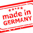Red rubber stamp of Made In Germany — Stock Photo