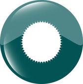 White glossy sphere icon button isolated on white — Stock Photo