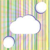 Abstract speech bubbles in the shape of clouds used in a social networks — Photo