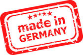 Red rubber stamp of Made In Germany — Stok fotoğraf
