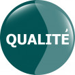 Qualite, best seller stickers icon button — Stock Photo