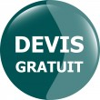 Devis gratuit, Free quote glossy green button — Stock Photo