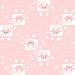 Cute floral seamless background with pink owls — Stock Photo #25543089