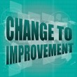 Business concept: words change to improvement on digital touch screen — Stock Photo #25543981
