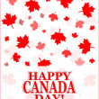 Happy Canada Day card in vector format — Stock Photo #25545003
