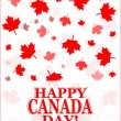 Stock Photo: Happy Canada Day card in vector format