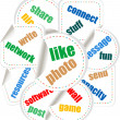 Royalty-Free Stock Photo: Abstract colorful illustration with various social and network words. Social networking theme