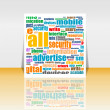 Social media Marketing - Word Cloud - Flyer or Cover Design — Stock Photo