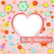 Be my valentine scrapbook flower background — Stockfoto