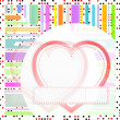 Valentine's day vector background with abstract hearts — Stock Photo