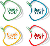 Thank you - grateful bubbles. Vector — Stock Photo