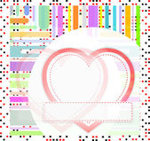 Valentine's day vector background with abstract hearts — Zdjęcie stockowe